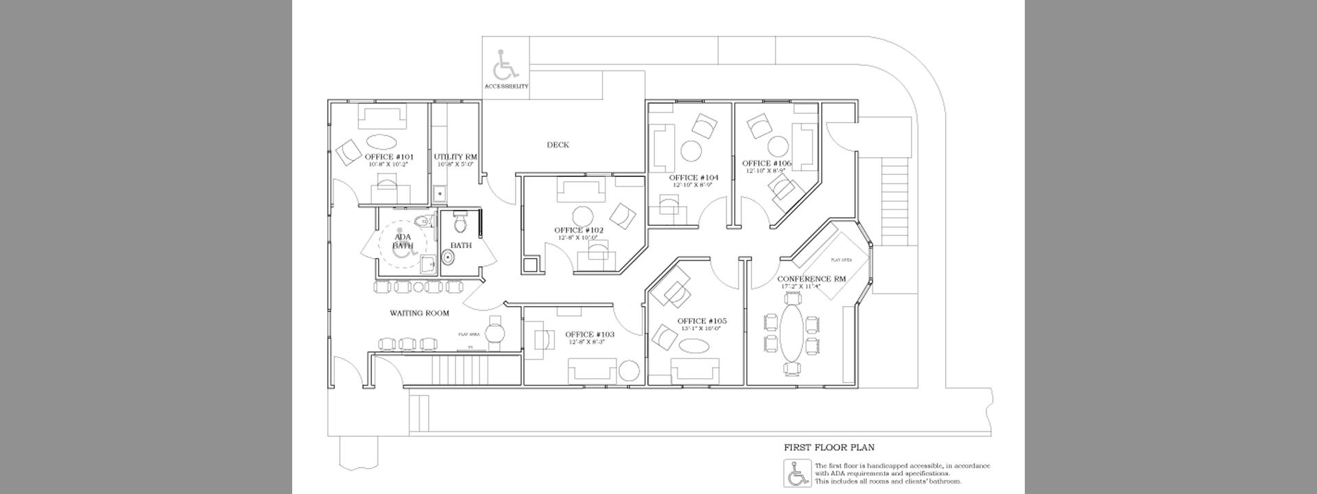 Ada bathroom floor plans - 1st Floor